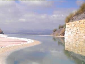 Suelos de piedra para la piscina